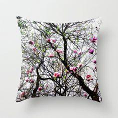 Magnolias Throw Pillow by Madison Webb - $20.00