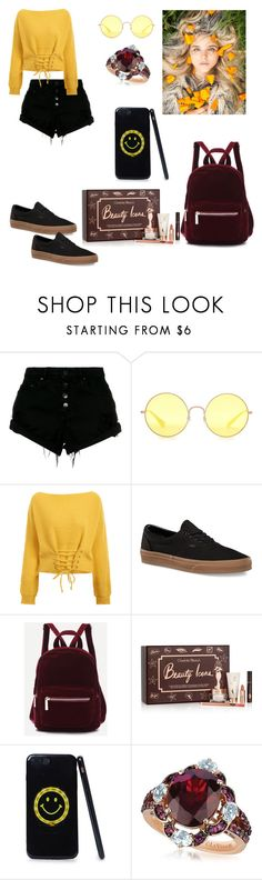 """""""Faige"""" by jslcl ❤ liked on Polyvore featuring Nobody Denim, Ray-Ban, Vans, Charlotte Tilbury, LE VIAN and vintage"""