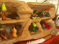 Looks like an underground cave... so cute! @Liz Huereque Gardner this is from the board I thought you would like. Sara Hart, Playroom inspiration