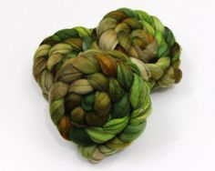 Mixed BFL Wool Roving  Hand Dyed Roving for by woolgatherings