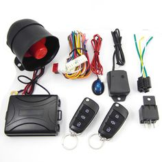 $29.30 - CA703-8118 One Way Remote Control Siren Sensor Auto Car Alarm Systems & Central Door Locking Security Key for Toyota