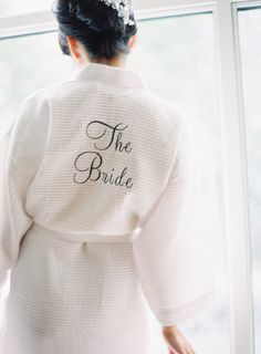 bridal waffle robe... perfect for getting ready that morning!