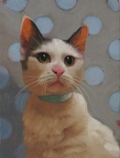Green Eyed Glenda, painting by artist Diane Hoeptner