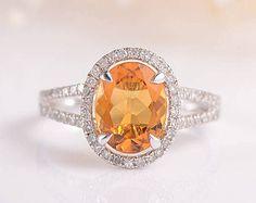 oval citrine ring