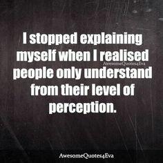 Stop Explaining
