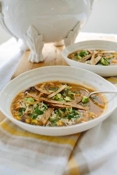 Sweet Potato Tortilla Soup.