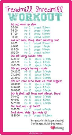 Blogilates treadmill workout... Maybe start with half of this at first and work up to the whole thing? Have a funny feeling this would currently kill me. #fitness