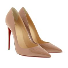 Christian Louboutin So Kate 120 Patent Leather Pumps Nude bei Fashionette