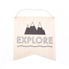 """Explore"" wall hang decor"