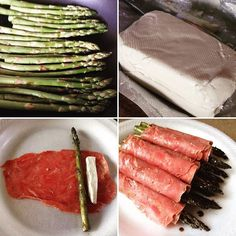 """""""Sauté asparagus in Worcestershire, sliced Neufchâtel cheese, roll up in corned beef #lowfat #lowcarb #diabetic friendly"""" Photo taken by @thefirehousegourmet on Instagram, pinned via the InstaPin iOS App! http://www.instapinapp.com (10/13/2015)"""