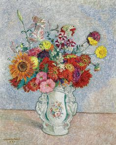 Leon De Smet - Bouquet of Flowers, 1961