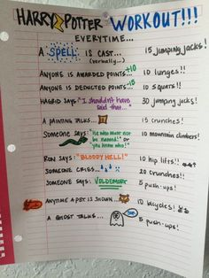Harry Potter | Community Post: 20 Fandom-Based Workouts To Get You Up And Moving SOOOO doing this my next HP marathon