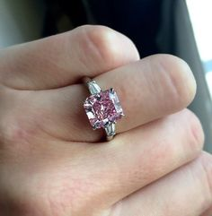Pink is the new black. Oh yes... Especially with this fancy vivid purplish-pink diamond. 3.74 carats. Lot 335 in our December 10 'Magnificent Jewels' auction in New York.. #christiesjewels #pink #pinkdiamond #ring #pinkisthenewblack #10DEC15