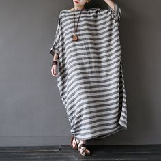 Oversized Loose Fitting Long Maxi Dress Gown Oversized