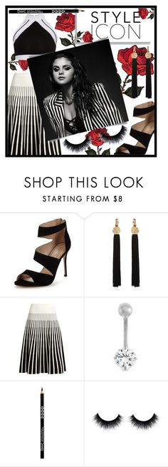 """Style Icon"" by blackdust ❤ liked on Polyvore featuring Carvela, Yves Saint Laurent, Tomas Maier, Balmain and Gioelli"