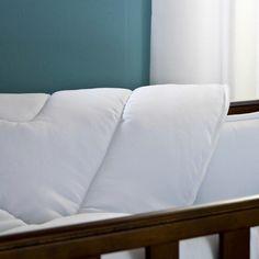 White Pique Crib Comforter | White Baby Comforter | Carousel Designs