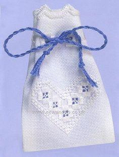 Buy Hardanger Sachet 2 Embroidery Kit Online at www.sewandso.co.uk