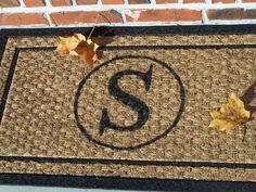 Monogram door mat, easy!