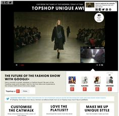 6 | How Google+ And Topshop Co-Created London Fashion Week's Most Interactive Show | Co.Create: Creativity \ Culture \ Commerce