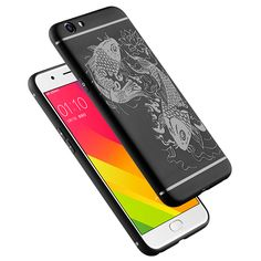 >> Click to Buy << For OPPO A59 Mobile Phone Bag Case Cover Luck Fish Relief Anti-knock Armor Silicon For OPPO A59 Protective Shell Skin Fundas #Affiliate