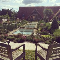 The serene Herb Garden at the LimeWood hotel