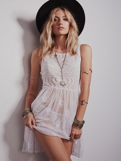 Intimately Geo Embroidered Fit and Flare at Free People Clothing Boutique