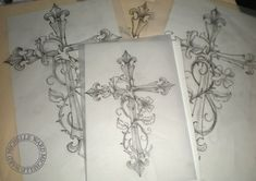... flowers | Tattoos | Pinterest | Cross Tattoos Crosses and Tattoos and
