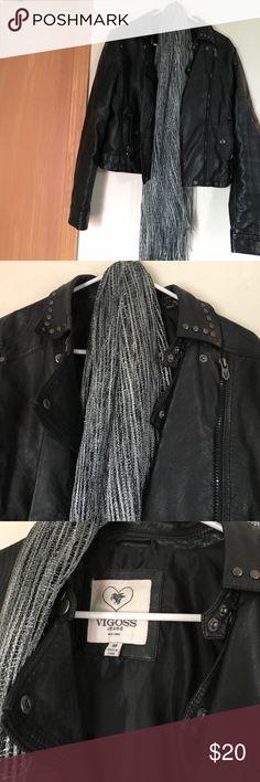 Vigoss black studded jacket. Black cute jacket. Like new Vigoss Jackets & Coats Utility Jackets
