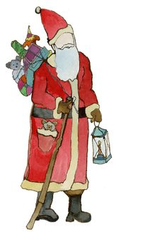 Christmas Santa Claus Painting