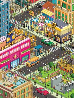 Pixel Art by Gus Morais, via Behance