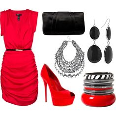 How could I not adore this red outfit?!?!