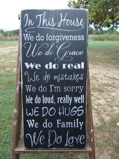 Family Rules Sign Wood Sign Hand Painted Sign Distressed Sign Primitive Country Home Decor Rustic Home Decor