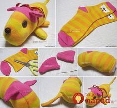 DIY-Sock-Dog-550x511.jpg (550×511)