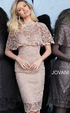 jovani Light Pink Fitted Knee Length Lace Cocktail Dress 1401 Source by th_voce Elegant Dresses, Sexy Dresses, Casual Dresses, Short Dresses, Fashion Dresses, Prom Dresses, Dresses With Sleeves, Formal Dresses, Summer Dresses