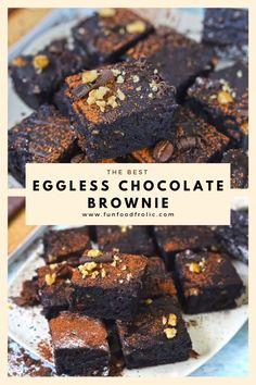 Eggless Brownie Recipe, Eggless Desserts, Eggless Recipes, Eggless Baking, Mug Recipes, Fun Baking Recipes, Snack Recipes, Chocolate Dishes, Chocolate Cookie Recipes