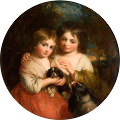 The Sisters by Charles Baxter, 1864 Oil on canvas, 36 x 37 cm Collection: Sandwell Museums Service Collection