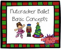 Nutcracker Ballet Basic Concepts (FREE)  This is a free adorable activity to work on receptive and expressive basic language concepts. Students follow directions to fill in the coloring page and then answer questions about what they see!