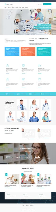 Buy MedPress - Health & Medical WordPress Theme by SliceTheme on ThemeForest. MedPress is a clean and responsive theme for medical and healthcare-related businesses. This WordPress Theme covers a. Premium Wordpress Themes, Business Website, Lifestyle Blog, Health Care, Medical, Free, Collection, Medicine, Med School