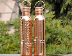Set of Copper Water Bottle with Carrying Handle Copper Rose, Pure Copper, Rose Gold, Benefits Of Drinking Water, Copper Utensils, Water Packaging, Copper Vessel, Heart And Lungs, Detox Drinks
