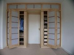 Della-Porta Design manufacture shoji style hinged doors for Japanese style wardrobes and other Japanese furniture. Furniture, Wardrobe Furniture, House Design, Shoji Doors, Home, Closet Bedroom, Japanese Style Bedroom, House Interior, Asian Home Decor