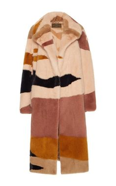 Mink Patchwork Lanscape Coat by Etro for Preorder on Moda Operandi