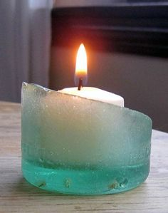 Sea Glass Candle Holder   Community Post: 30 DIY Sea Glass Projects