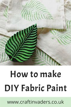 In this simple tutorial we make our own brilliant diy fabric paint from acrylic paint simply by adding a couple of household ingredients. Home Crafts, Diy And Crafts, Crafts For Kids, Cool Diy Projects, Diy Craft Projects, Fabric Printing, Diy Pins, How To Make Diy, Dollar Store Crafts