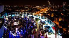 Klub Level 27 - taras z widokiem na panoramę warszawy - Business ...