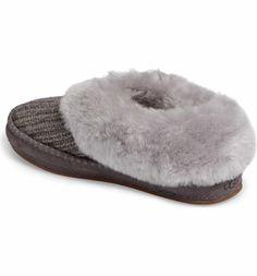 Size 8 or 9 Main Image - UGG® Wrin Rib-Knit & Genuine Shearling Slipper (Women)