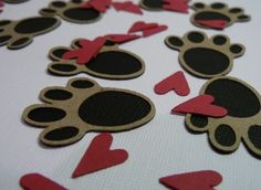 Dog party confetti. A great idea for New Year's Eve.
