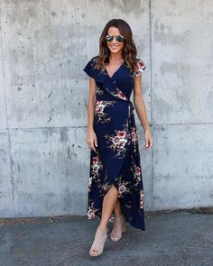 Madly Floral Wrap Maxi Dress