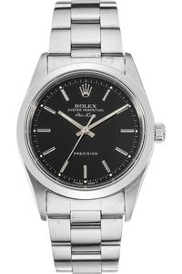 Pre-owned Rolex Oyster Perpetual Date 15000 Unisex Automatic watch. 34 mm Steel case, with Black Baton dial. Luxury Watches, Rolex Watches, Rolex Air King, Rolex Oyster Perpetual Date, Pre Owned Rolex, Automatic Watch, Oysters, Michael Kors Watch, Omega Watch