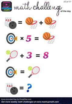 You Ready for 17 Awesome New Math Challenges? Are You Ready for 17 Awesome New Math Challenges? — Mashup MathAre You Ready for 17 Awesome New Math Challenges? Maths Puzzles, Math Worksheets, Math Resources, Mind Games Puzzles, Fun Math, Math Games, Math Activities, Math Math, E Learning