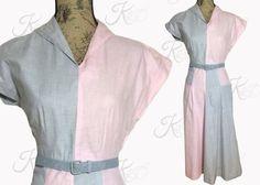 Vintage 50s Dress Vintage 1950s Dress 50s Color by KayDoveVintage
